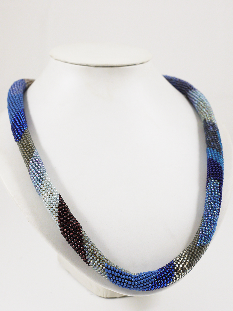 Loop blau | Glasperlenkette | Edition Workshop
